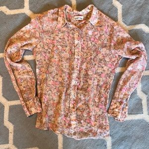 Vintage Dior Collard button down blouse